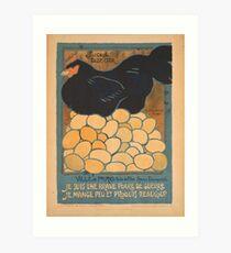 Lámina artística Cartel vintage - Soy una gallina de la guerra fina