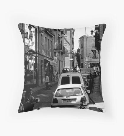 "City Life - ""Optica & Farmacia"" Throw Pillow"