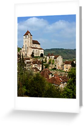 St. Cirq Lapopie on the Lot River, France by A.M. Ruttle