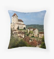 St. Cirq Lapopie on the Lot River, France Throw Pillow