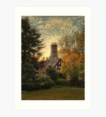 Tudor in Autumn Art Print