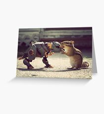 Grimlock vs Munkzilla Greeting Card