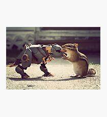 Grimlock vs Munkzilla Photographic Print