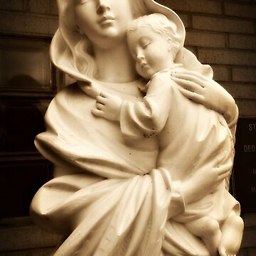 Mother Mary and the Christ Child, statue outside Saint Gerard RC Church by amberwayne52