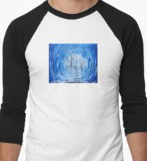 Deep Frozen Woods Original Painting Men's Baseball ¾ T-Shirt