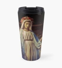 Graceful Virgin Mary Statue outside the Knights of Columbus in North Arlington, New Jersey Travel Mug