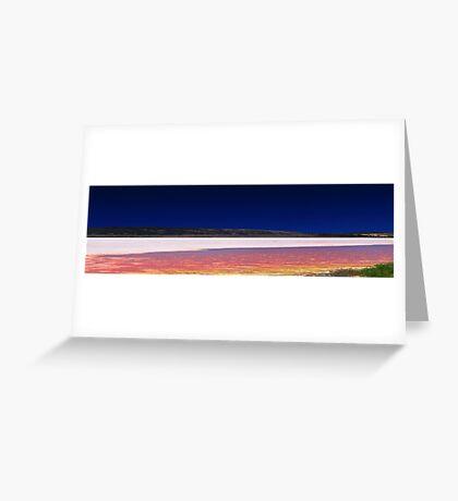 Hutt Lagoon - Western Australia  Greeting Card