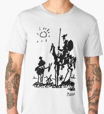 Pablo Picasso Don Quixote 1955 Artwork Shirt, Reproduction Men's Premium T-Shirt