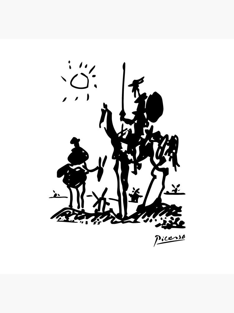 Pablo Picasso Don Quixote 1955 Artwork Shirt, Reproduction by clothorama