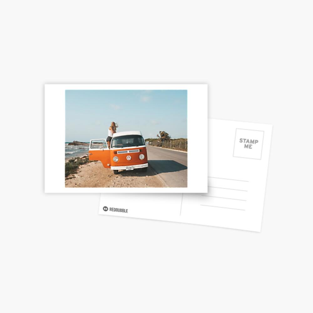 Combi van Mädchen Mexiko Postkarte