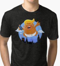 Trump Big Graphic Inflatable Baby Blimp Balloon Tri-blend T-Shirt