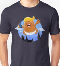 Trumpf-großer grafischer aufblasbarer Baby-Luftschiff-Ballon Slim Fit T-Shirt