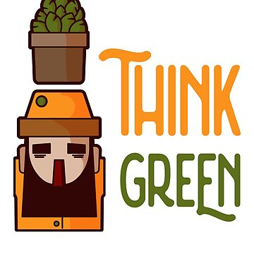 Think green 2  by DeDip