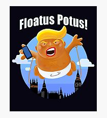 Trump Inflatable Baby Blimp Potus England Visit 2019  Photographic Print