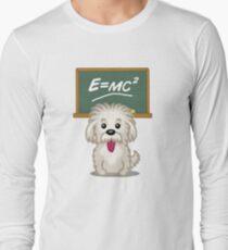 Shihtzu Shitzu Einstein dog tshirt - Dog Gifts for Shihtzu and Maltese Dog Lovers Long Sleeve T-Shirt