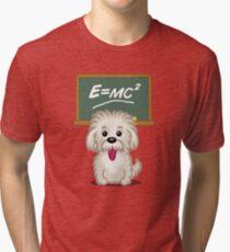 Shihtzu Shitzu Einstein dog tshirt - Dog Gifts for Shihtzu and Maltese Dog Lovers Tri-blend T-Shirt