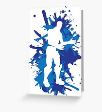 Robot Dance Move - Blue Greeting Card