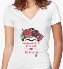 Verliebe dich in dich selbst, in das Leben und nach wem du willst Tailliertes T-Shirt mit V-Ausschnitt