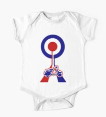 Retro Mod target and scooter Art Kids Clothes