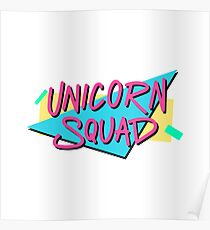 The inscription - Unicorn squad. Poster