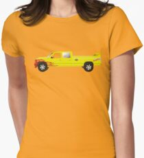 pussy wagon coche de la película kill bill Camiseta entallada para mujer