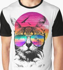 Summer Cat Graphic T-Shirt