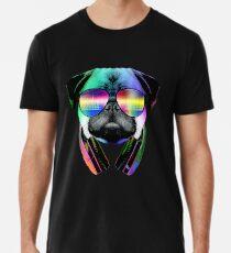 Camiseta premium para hombre Música Love Pug