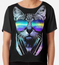 Musikliebhaber Katze Chiffontop