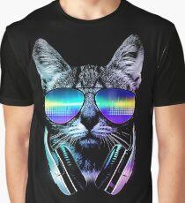 Musikliebhaber Katze Grafik T-Shirt