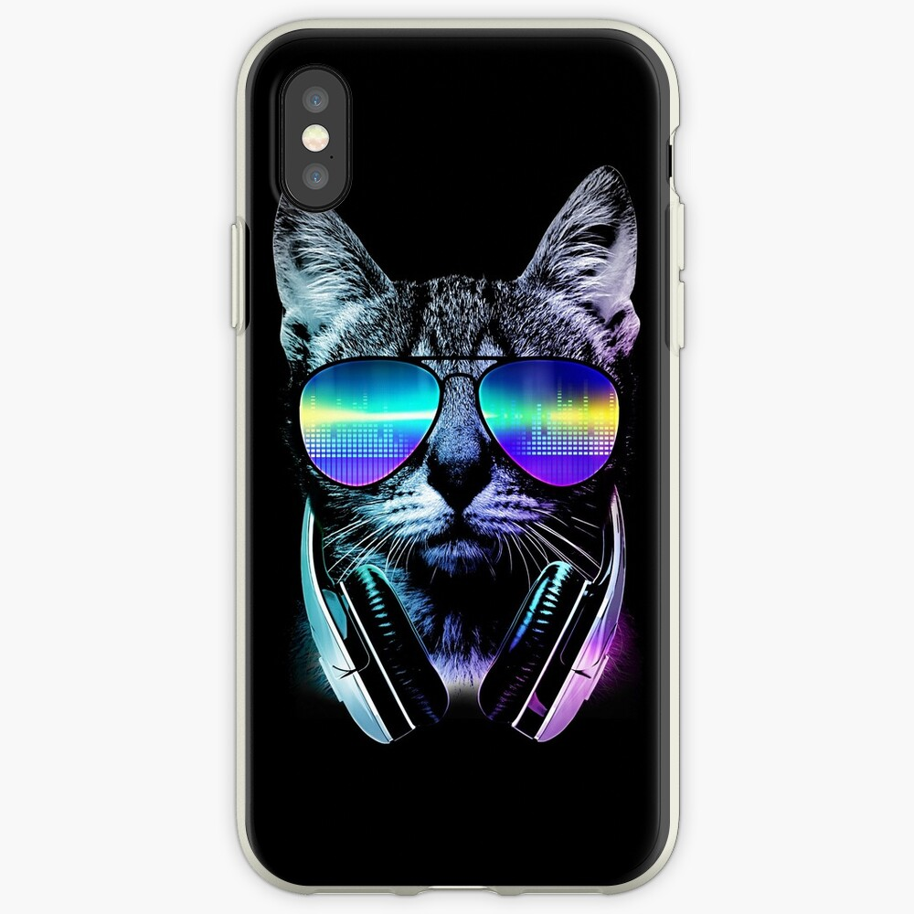 Musikliebhaber Katze iPhone-Hülle & Cover