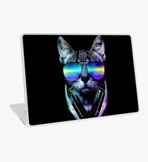 Music Lover Cat Laptop Skin