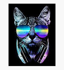 Music Lover Cat Photographic Print
