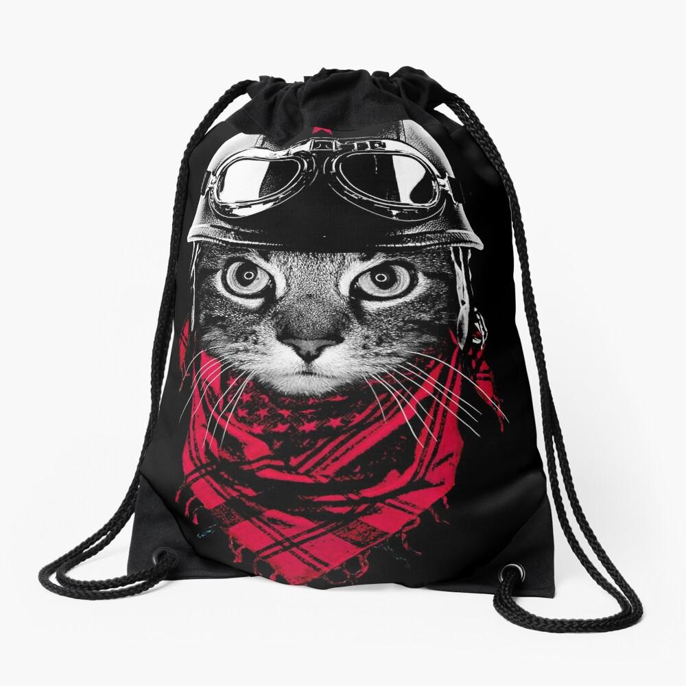 Abenteurer Katze Turnbeutel