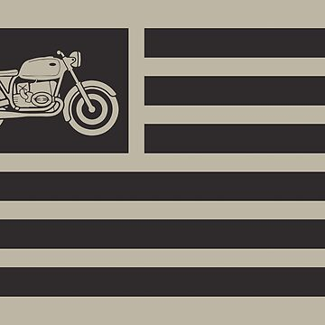Cafe Racer Motorcycle Flag by biggeek