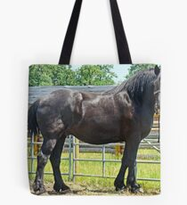 Black Percheron Tote Bag