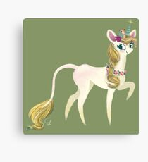 Sweet forest Unicorn and Hedgehog friend Canvas Print
