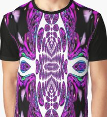 A pattern  in Purple Graphic T-Shirt