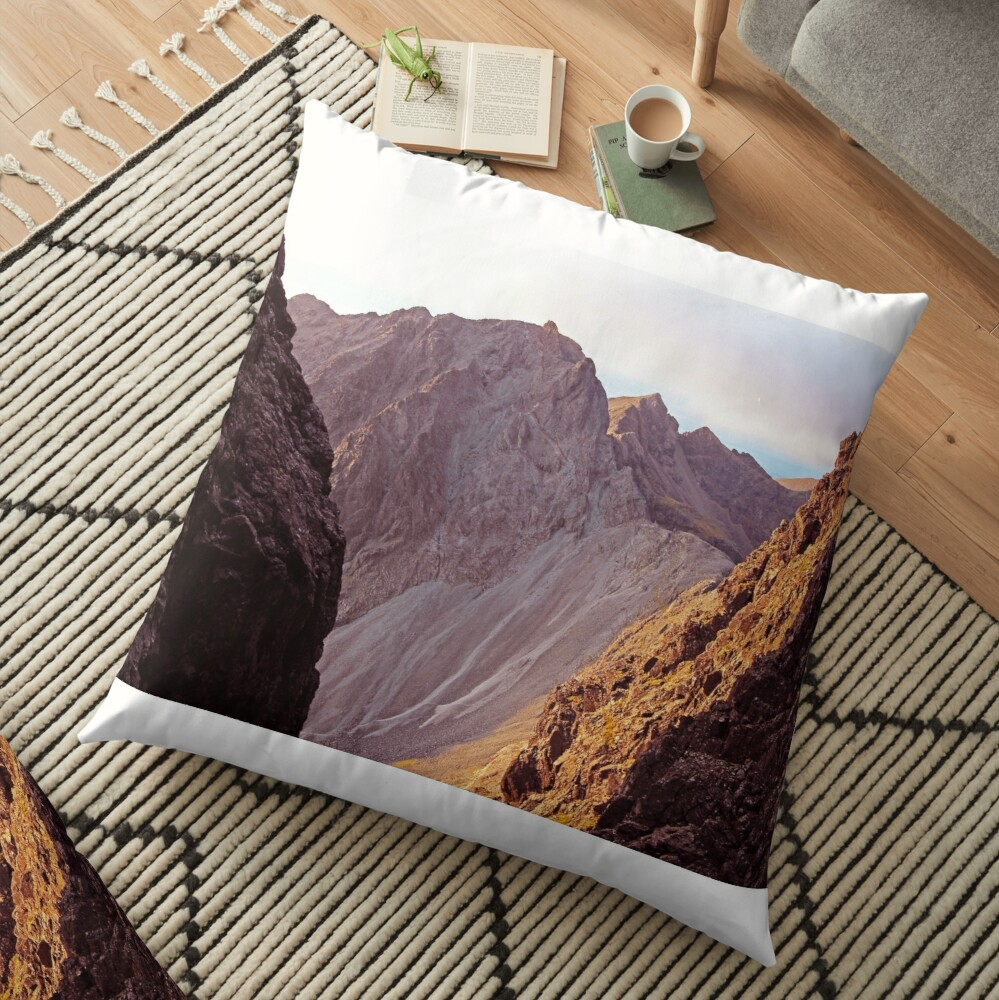 From The Great Stone Chute Floor Pillow