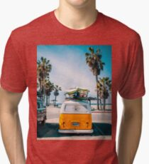 Camiseta de tejido mixto Combi van surf