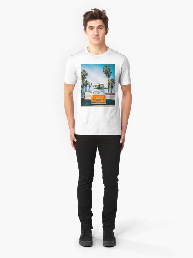 Alternate view of Combi van surf Slim Fit T-Shirt