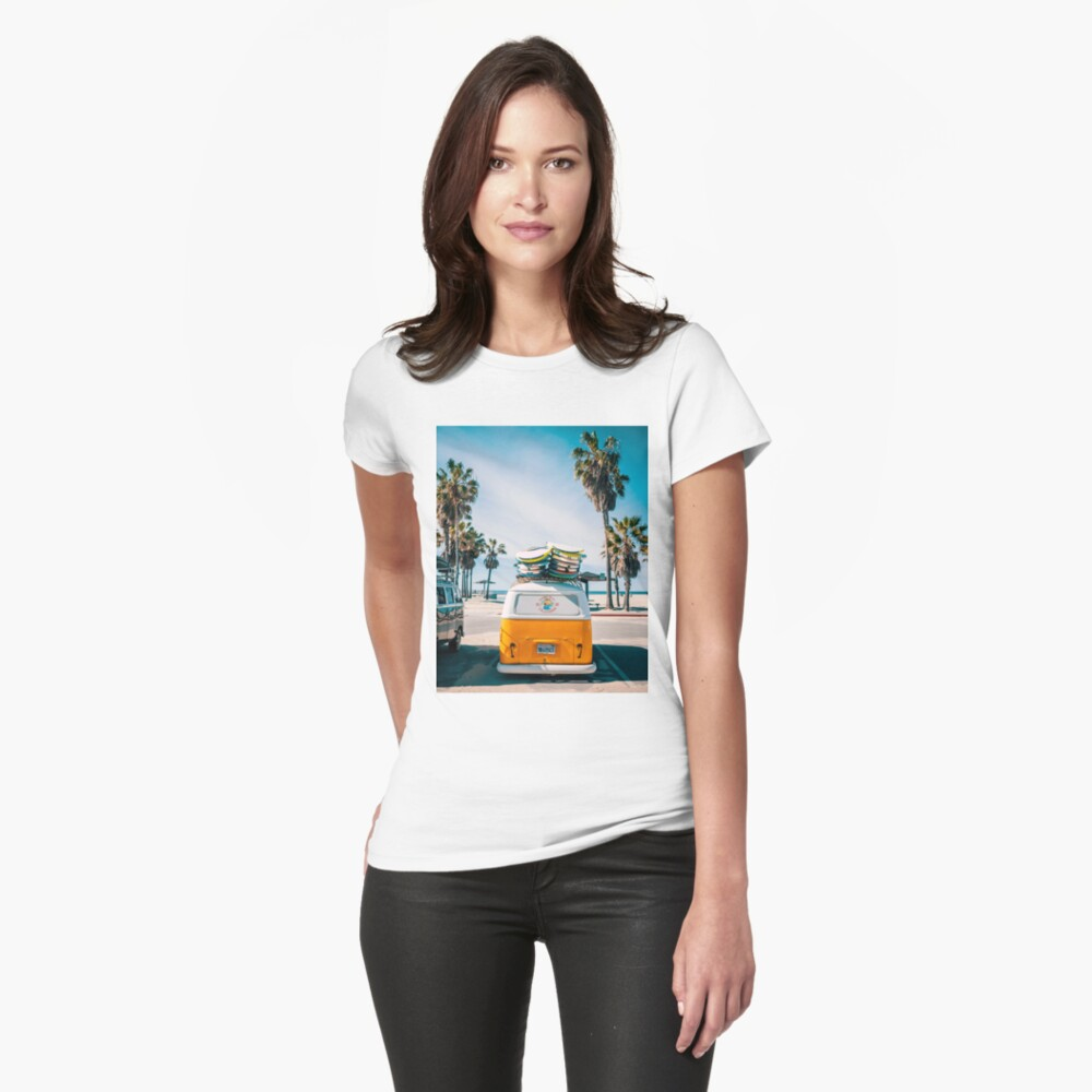 Combi van surf Fitted T-Shirt