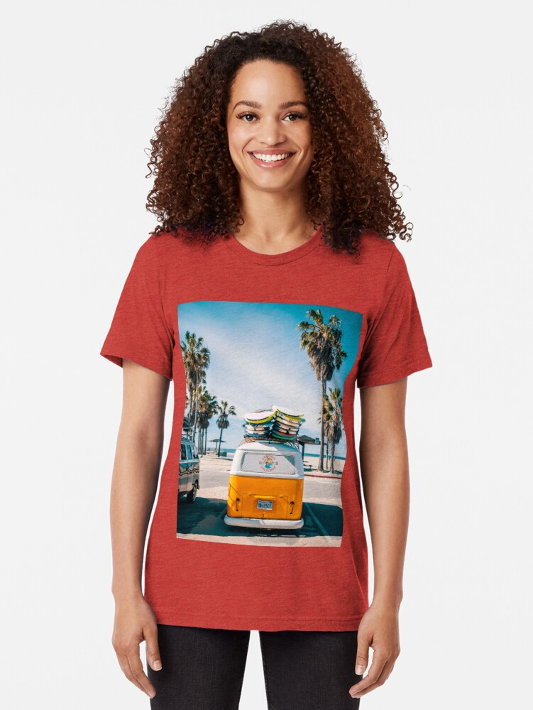 Alternate view of Combi van surf Tri-blend T-Shirt
