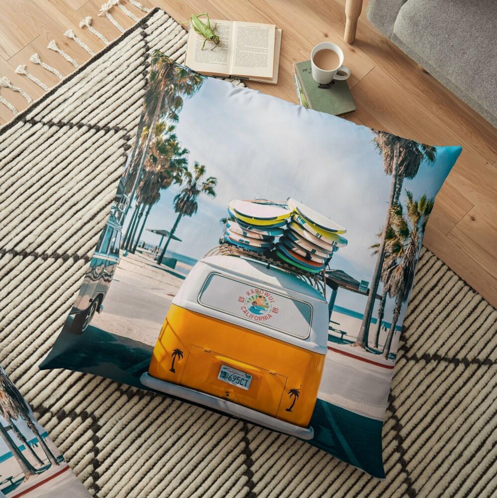 Combi van surf Floor Pillow