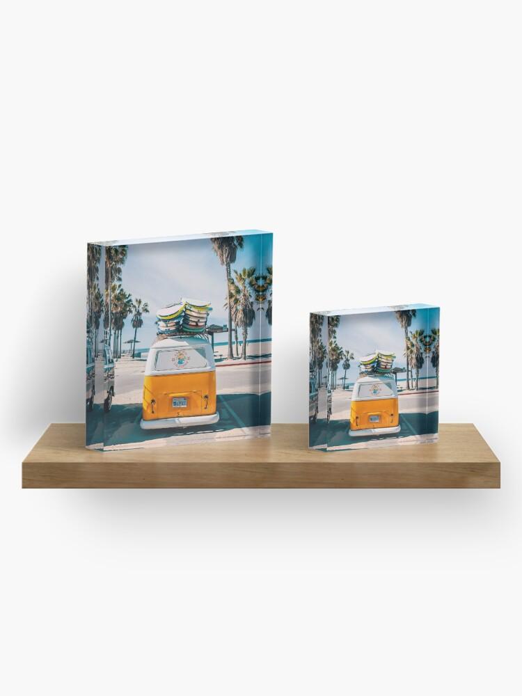 Alternate view of Combi van surf Acrylic Block
