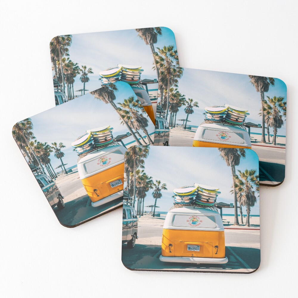 Combi van surf Coasters (Set of 4)