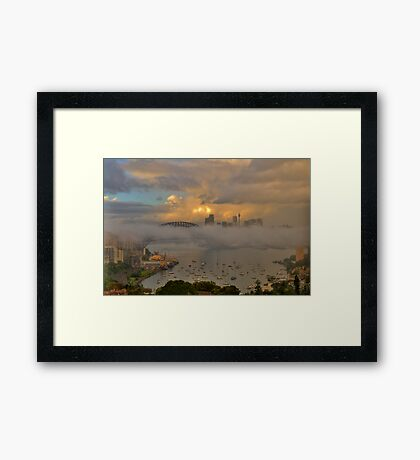 Play Misty For Me  - Moods Of A City - The HDR Experience Framed Print