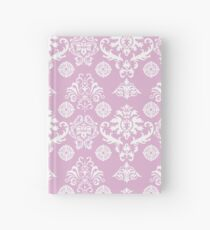Pink and White Damask Pattern Hardcover Journal