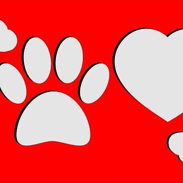 Dog Paw And Bone by Almdrs