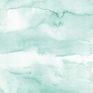 «Pintura de lavado de acuarela moderna verde menta» de Dizzywonders