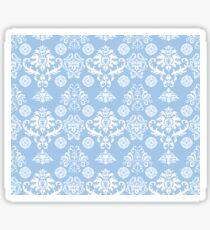 Blue and White Damask Pattern Sticker